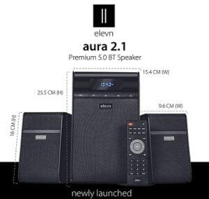 elevn Aura 2.1 Deep Bass Premium 5.0 BT Multimedia Speaker with 80 Watts Peak Output for Rs.2790 @ Amazon