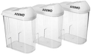 Solimo Plastic Storage container Set with sliding mouth (3 x 750 ml) for Rs.170 @ Amazon
