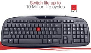 iBall Winner V2.0 Wired USB Desktop Keyboard for Rs.331 @ Amazon