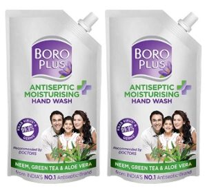 BOROPLUS Antiseptic + Moisturising Hand Wash – Neem, Green Tea & Aloe Vera (750 ml x 2) for Rs.150 @ Amazon