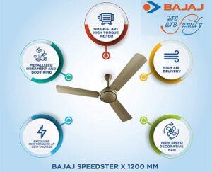 Bajaj Speedster X 1200 mm Ceiling Fan