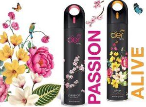 Godrej aer spray, Premium Air Freshener - Passion & Alive (Pack of 2, 240 ml each)