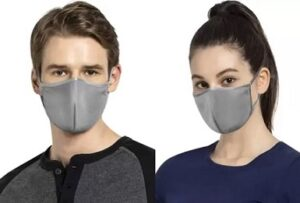 JOCKEY Unisex Face FM02-0205-PFGRY-L Cloth Mask With Melt Blown Fabric Layer (Pack of 2) for Rs.249 @ Flipkart