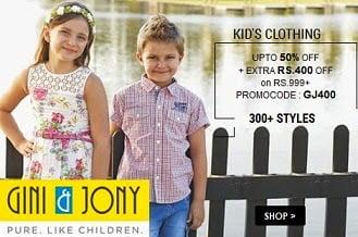 Gini & Jony Kids Clothing: Min 50% Off @ Amazon