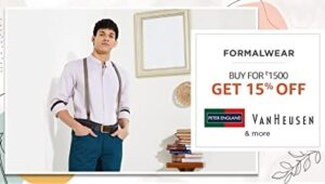 Amazon Fashion Mega Sale: Buy Men's Clothing (Arrow, Raymond, Louis Philippe & more) worth Rs.1500 and get Extra 15% Off