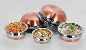 Newland handi Induction Bottom Stainless Steel Cookware Set 5 Pcs