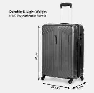 PROVOGUE Medium Check-in Luggage (66 cm) for Rs.1549 @ Flipkart (Pre-paid Order)