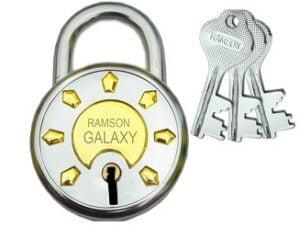 Ramson Steel Galaxy Double Locking 6 Levers 3 Keys Lock (50mm)