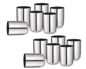 Sorabh RGP Premium Quality Stainless Steel Royal Glass 7 cm (Set of 12)