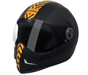 Steelbird SB-50 Adonis Dashing Black Golden with Plain visor 600mm for Rs.793 @ Amazon