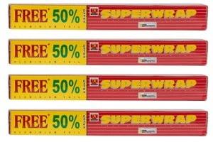 Superwrap Hindalco Aluminium Foil (Pack of 4)