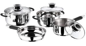 Vinod Stainless Steel Induction Friendly Master Chef Cookware Set (4 Pieces)
