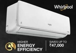 Whirlpool 4 in 1 Convertible Cooling 1.5 Ton 3 Star Split Inverter AC (Copper Condenser) for Rs.32999 @ Flipkart (ith Axis Card Rs.31499)