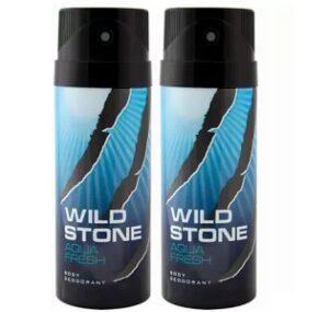 Wild Stone AQUA FRESH Deodorant (150 ml x 2) for Rs.199 @ Flipkart