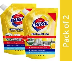 EMAMI EMASOL Dish Wash Gel with Lemon (900 ml x 2)