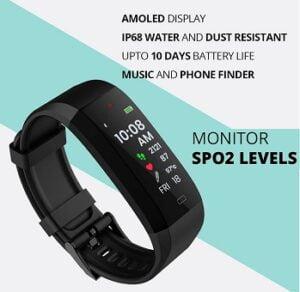 GOQii Vital 4.0 Oximeter built-in continuous SpO2, Heart rate & body temperature monitoring for Rs.3999 @ Amazon