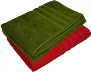 NANDAN JOY Cotton 460 GSM Bath Towel Set (Pack of 2) for Rs.349 @ Flipkart