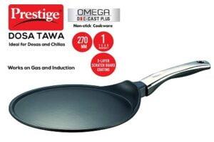 Prestige Omega Die-Cast Plus Non-Stick Dosa Tawa, 27 cm