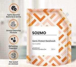 Solimo Germ-Protect Handwash Liquid 1500 ml for Rs.133 @ Amazon