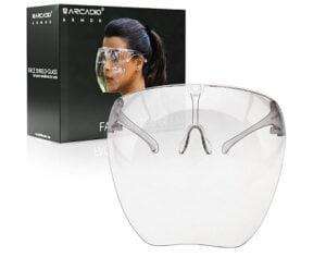 ARCADIO Armor - HD Clear Visor Multipurpose Face Shield Reusable| Anti-fog| Anti-Scratch Protective Wear Unisex