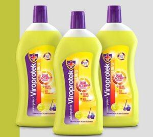 Asian Paints Viroprotek Ultra Disinfectant Floor Cleaner Citrus - 500 ml each (Pack of 3)
