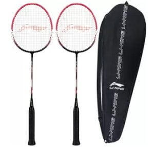 LI-NING XP-60-IV Pink Strung Badminton Racquet with 1 full cover (Pack of 2) for Rs.829 @ Flipkart