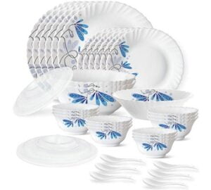 Larah by Borosil Twilight Silk Series Opalware Dinner Set 35 Pieces for Rs.1046 @ Amazon