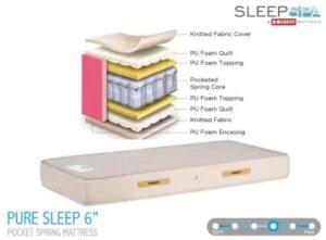 Sleep Spa by Coirfit PURE SLEEP PREMIUM ORTHOPAEDIC 6 inch King Pocket Spring Mattress (L x W: 72 inch x 72 inch)