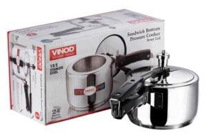 Vinod 18/8 Stainless Steel Inner Lid Pressure Cooker -3 Ltr (Induction Friendly)