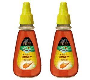 Zandu Pure Honey 100% Purity, No Added Sugar (400g x 2) for Rs.220 @ Amazon