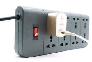 Belkin Essential Series 8-Socket Surge Protector Universal Socket with 6.5ft Heavy Duty Cable