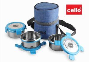 Cello Pure Steel Lunch Box 3 Pcs.