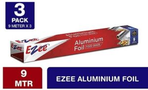 Ezee Aluminium Foil 11 micron for Kitchen and Packing Food (9 Mtr x of 3)