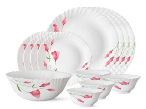 Larah by Borosil Diana Opalware Dinner Set 13-Pieces