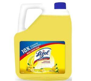 Lizol Disinfectant Surface & Floor Cleaner Liquid, Citrus - 5 L | Kills 99.9% Germs