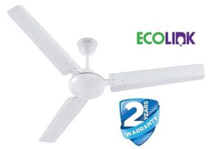 EcoLink Zoom High Speed Ceiling Fan - 1200MM (White) - Copper From The House Of Philips Lighting, standard