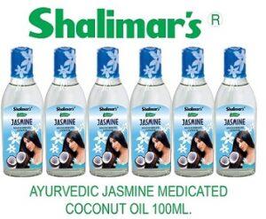 Shalimar's AYURVEDIC JASMINE NON STICK MEDICATED COCONUT OIL 100ML, Pack of 6
