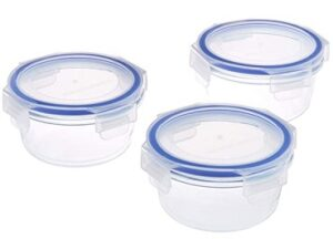 Solimo Round Glass Storage Container Set of 3 (350ml)