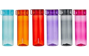 Amazon Brand - Solimo Water Bottle Set (6 Pieces, 800ml, Multicolor)