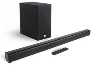 JBL Cinema SB261, 2.1 Channel Dolby Digital Soundbar with Wireless Subwoofer for Extra Deep Bass with Remote, HDMI ARC, Bluetooth (220W) for Rs.12999 @ Amazon
