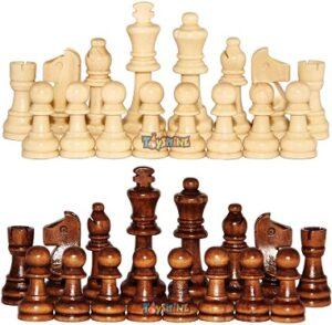 Toyshine Wooden Chess Pieces, Tournament Staunton Wood Chessmen Pieces Only (3″ King Figures) for Rs.339 @ Amazon