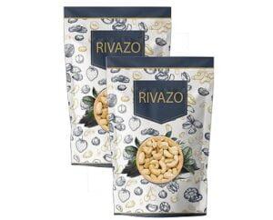 Rivazo 100% Natural Fresh Organic Whole Cashew Nuts Kaju 1 Kg for Rs.885 @ Amazon