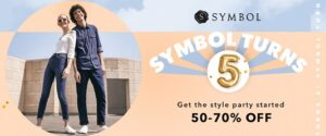 Symbol Fashions Minimum 50% off + Buy 1 – 5% off or Buy 2 – 10% off or Buy 3 – 15% off @ Amazon
