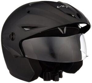 Vega Cruiser CR-W/P-DK-M Open Face Helmet with Peak (Dull Black, M) for Rs.808 @ Amazon