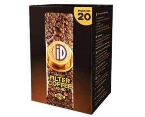 iD 100% Authentic Instant Filter Coffee Decoction – Pack of 20 , 400ml Coffee Liquid for Rs.120 @ Amazon