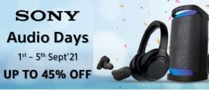 Sony Audio Days – up to 45% off on Audio range @ Amazon